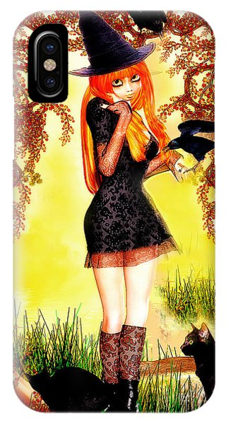 Happy Halloween Cute Witch IPhone Case