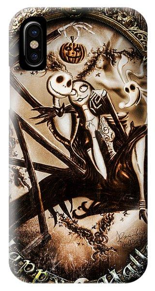 Old iPhone Case - Happy Halloween IIi Sepia Version by Alessandro Della Pietra