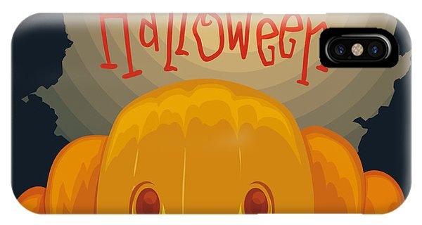 Celebration iPhone Case - Happy Halloween Pumpkin Poster With by Penwin