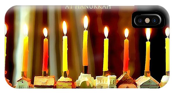 Happy Hanukkah 5 IPhone Case