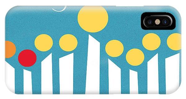 Office iPhone Case - Happy Hanukkah Menorah Card by Linda Woods