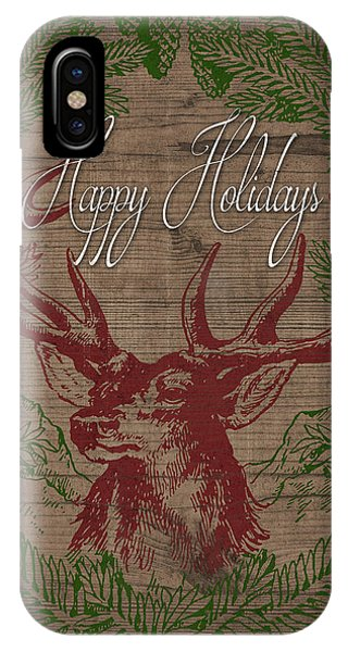 Holiday iPhone Case - Happy Holidays Deer by South Social Studio