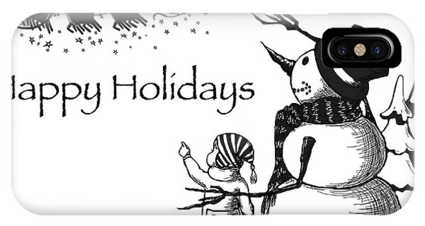 Holiday iPhone Case - Happy Holidays by Konni Jensen