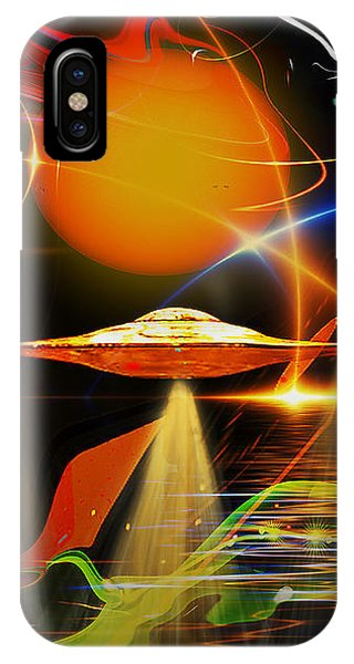 IPhone Case featuring the digital art Happy Landing by Eleni Mac Synodinos
