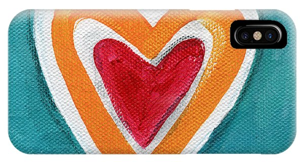 Hearts iPhone Case - Happy Love by Linda Woods