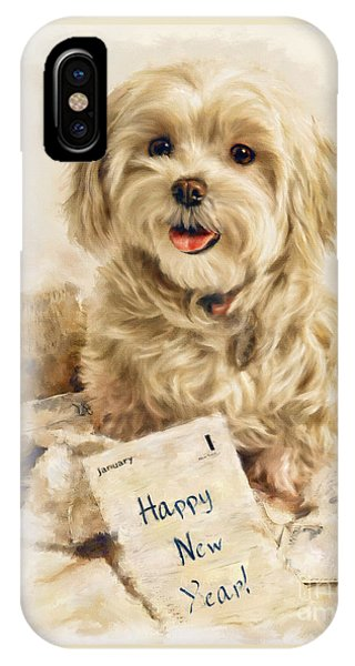 Maltese Happy New Year IPhone Case