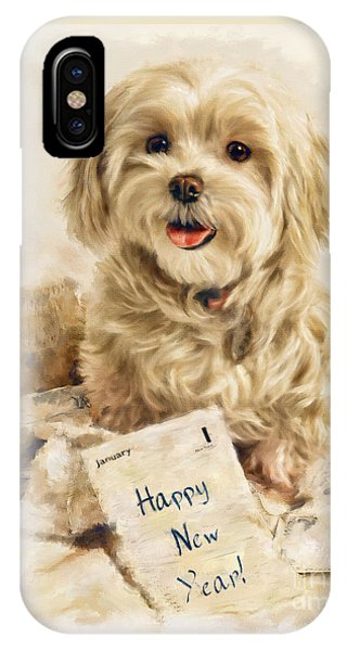 Maltese Happy New Year IPhone Case