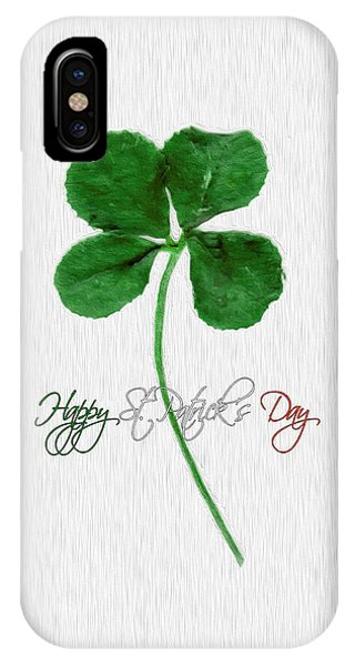 Happy St. Patrick's Day 4 Leaf Clover IPhone Case