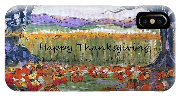 Happy Thanksgiving Greeting Card IPhone Case