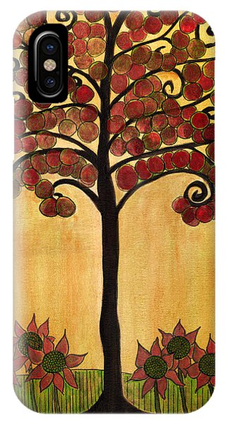 Happy Tree In Red IPhone Case