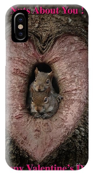 Happy Valentine Squirrels IPhone Case