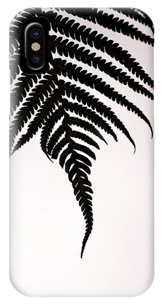 Hapu'u Frond Leaf Silhouette IPhone Case
