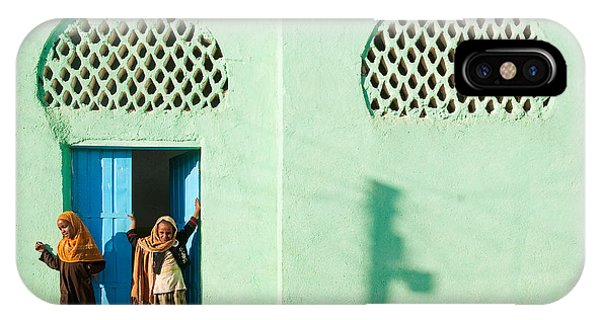 Harar Ethiopia Old Town City Mosque Girls Children IPhone Case
