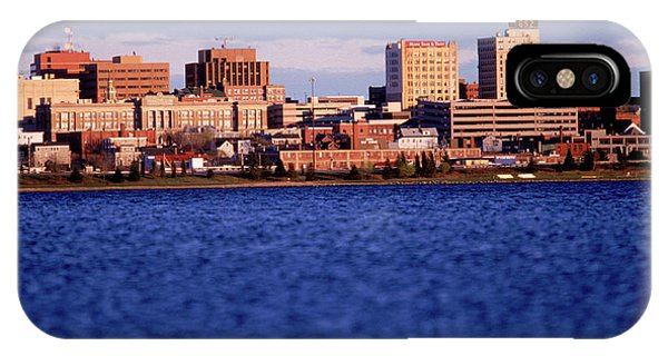 New England Coast iPhone Case - Harbor And Skyline by David McLain
