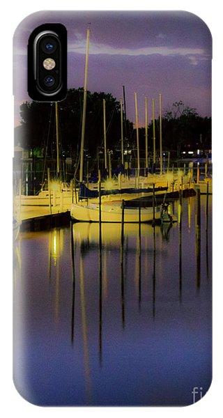 Harbor At Night IPhone Case
