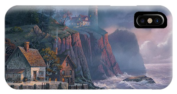 iPhone Case - Harbor Light Hideaway by Michael Humphries