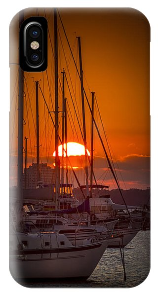 Regatta iPhone Case - Harbor Sunset by Marvin Spates