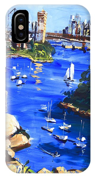 Harbour In Sun And Wind Phone Case by Shirley  Peters