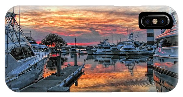 Harbour Town Yacht Basin IPhone Case