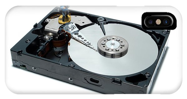 Disc iPhone Case - Hard Drive Backup by Olivier Le Queinec