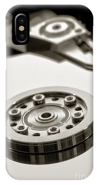 Disc iPhone Case - Hard Drive by Olivier Le Queinec