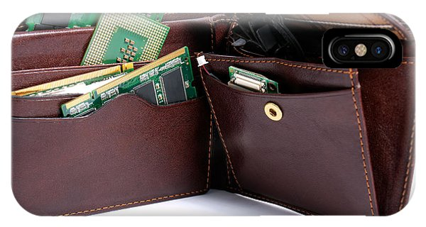 Hardware Wallet Phone Case by Sinisa Botas
