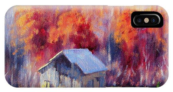 Hardy Road Barn- In Autumn IPhone Case