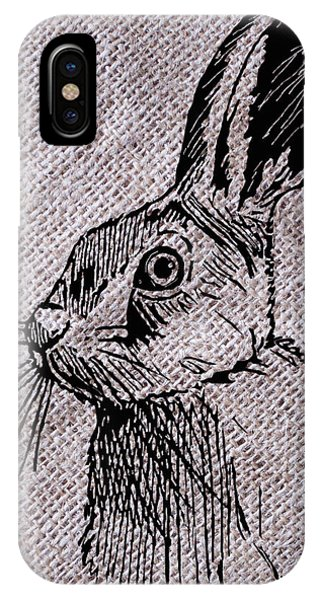 Hare On Burlap IPhone Case