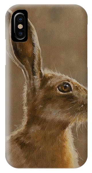 Hare Portrait I IPhone Case
