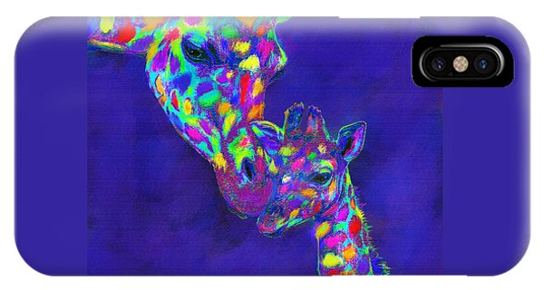 Harlequin Giraffes IPhone Case