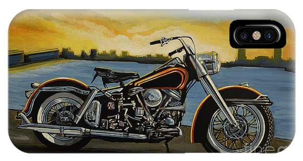 Motorcycle iPhone Case - Harley Davidson Duo Glide by Paul Meijering
