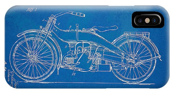 Motorcycle iPhone Case - Harley-davidson Motorcycle 1924 Patent Artwork by Nikki Marie Smith