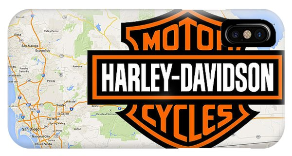 IPhone Case featuring the digital art Harley-davidson San Diego by Photographic Art by Russel Ray Photos