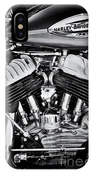 Harley Davidson Wla Monochrome IPhone Case