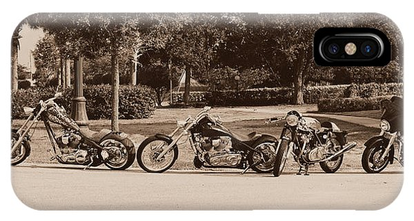 Custom Made iPhone Case - Harley Line Up by Laura Fasulo