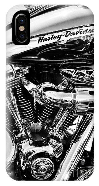 White iPhone Case - Harley Monochrome by Tim Gainey