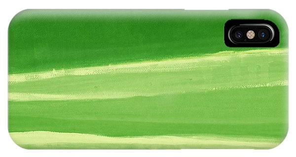 Abstract Landscape iPhone Case - Harmony In Green by Linda Woods