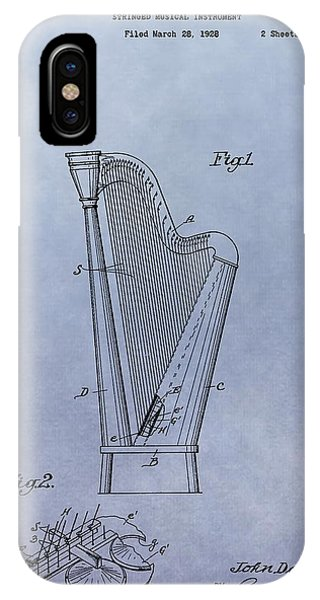 Harp iPhone Case - Harp Patent by Dan Sproul