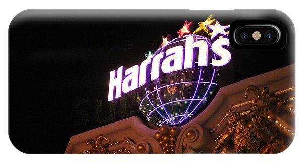 Harrahs Sign Las Vegas Nevada IPhone Case