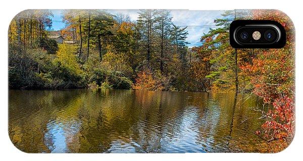 Harris Lake In Autumn IPhone Case