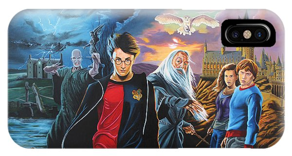 Hogwarts iPhone Case - Harry Potter's World by Robert Steen