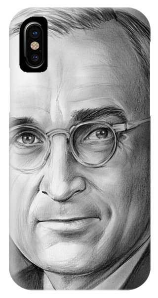 United States Presidents iPhone Case - Harry S. Truman by Greg Joens