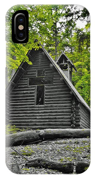 Hartwick Pines Chapel Bwg IPhone Case