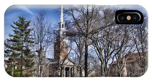 Harvard University Old Yard Church IPhone Case