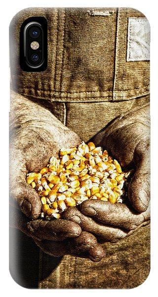 Harvest In His Hands IPhone Case