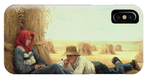 Plowing iPhone Case - Harvest Time by Julien Dupre