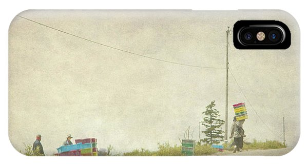 Harvesting Blueberries  IPhone Case