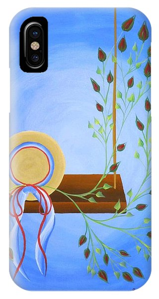 Hat On A Swing IPhone Case