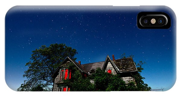 Haunted Farmhouse At Night IPhone Case
