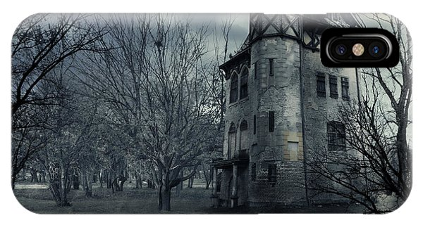 Full Moon iPhone Case - Haunted House by Jelena Jovanovic